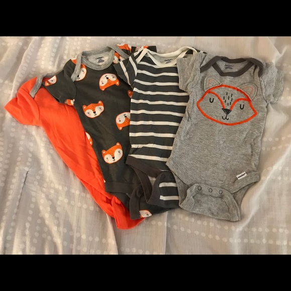 b1832505a Gerber One Pieces   Fox 36 Month Onesies Worn Once   Poshmark